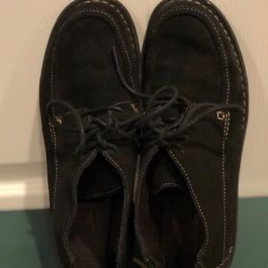 Clarks Black suede lace up  shooties